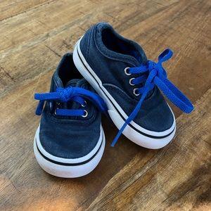 Vans Authentic Baby Boy Lace Up Shoes Blue White